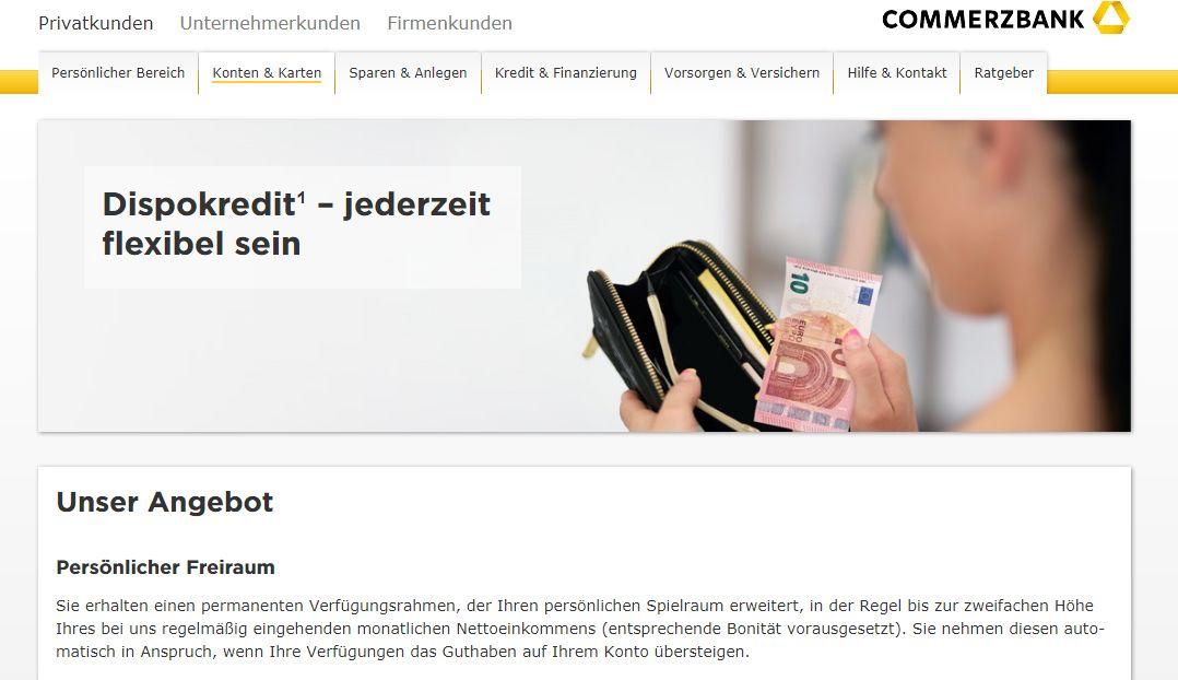 Commerzbank Dispo