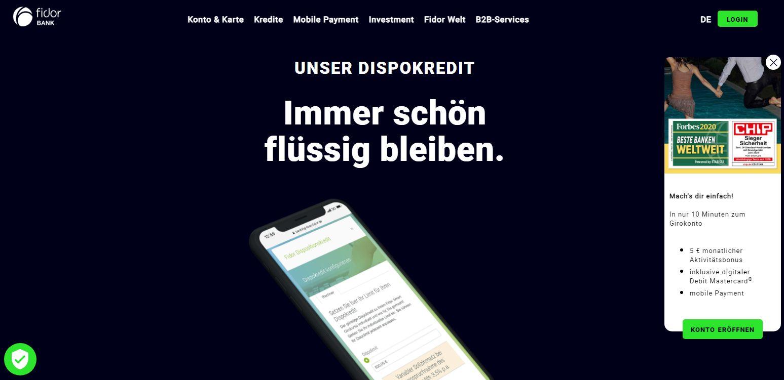 Fidor Bank Dispo