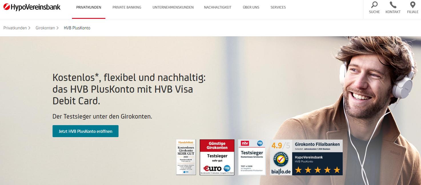 Girokonto mit Kreditkarte HypoVereinsbank