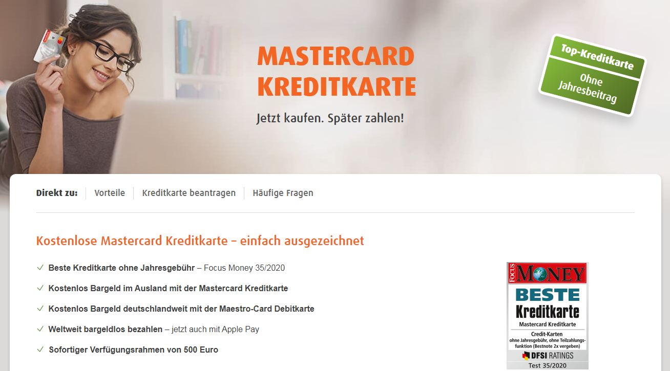 Girokonto mit Kreditkarte norisbank