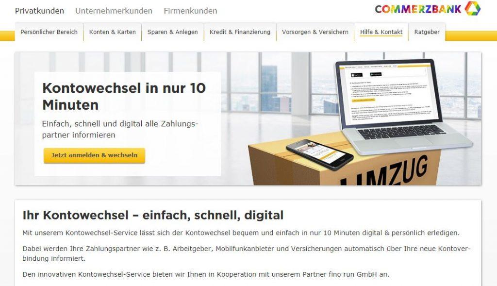 Commerzbank Kontowechselservice